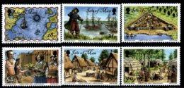 Isle Of Man 2007 Yvert 1404-1409, History. Jamestown 400th Anniv, Historical Scenes - MNH - 1952-.... (Elizabeth II)