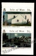 Isle Of Man 2007 Yvert 1396-1397, Art. Norman Sayle Watercolours. Adhesive Vertical Pair - MNH - 1952-.... (Elizabeth II)
