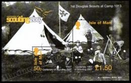 Isle Of Man 2007 Yvert BF 65, Organizations. Scouts, Scouting Centenary - Miniature Sheet - MNH - 1952-.... (Elizabeth II)