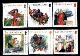 Isle Of Man 2008 Yvert 1450-1455, History. Vikings At Man, Assorted Illustrations - MNH - 1952-.... (Elizabeth II)