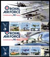 Isle Of Man 2008 Yvert 1444-1449, Military. Airplanes, RAF Royal Air Force 90th Anniv. Header - MNH - 1952-.... (Elizabeth II)