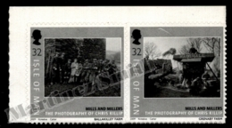 Isle Of Man 2009 Yvert 1544-1545, Agriculture. Mills & Millers, Pictures By Chris Killip - Adhesive Pair - MNH - 1952-.... (Elizabeth II)