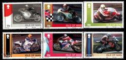 Isle Of Man 2009 Yvert 1563-1568, Sports. Motorcycle Racing, Honda 50th Anniversary At World Championships - MNH - 1952-.... (Elizabeth II)