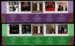 Isle Of Man 2009 Yvert 1572-1579, Music. The Bee Gees, Band 50th Anniversary, Album Covers. Songs Border - MNH - 1952-.... (Elizabeth II)