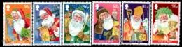 Isle Of Man 2009 Yvert 1594-1599, Christmas. Santa Claus Drawings - MNH - 1952-.... (Elizabeth II)