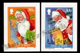 Isle Of Man 2009 Yvert 1600-1601, Christmas. Santa Claus Drawings - MNH - 1952-.... (Elizabeth II)
