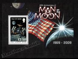 Isle Of Man 2009 Yvert BF 74, Science. Space, 40th Anniv First Man On The Moon - Miniature Sheet - MNH - 1952-.... (Elizabeth II)