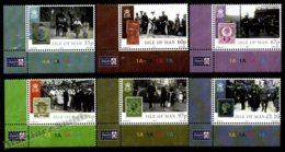 Isle Of Man 2010 Yvert 1638-1643, Royals. Centenary King George V Accession Throne. Corner Border - MNH - 1952-.... (Elizabeth II)