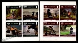 Isle Of Man 2010 Yvert 1612-1619, Tourism. Activities & Landscapes. Block Of 4 - MNH - 1952-.... (Elizabeth II)