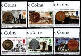 Isle Of Man 2010 Yvert 1650-1655, Numismatics. History Of Manx Coins, Historic Coins. Border - MNH - 1952-.... (Elizabeth II)