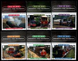 Isle Of Man 2010 Yvert 1656-1661, Trains. Manx Old Locomotives. Railways & Tramways Border - From Miniature Sheet - MNH - 1952-.... (Elizabeth II)