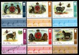 Isle Of Man 2011 Yvert 1724-1729, Fauna. Manx Cats & Coat Of Arms. Score Border - MNH - 1952-.... (Elizabeth II)