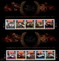 Isle Of Man 2011 Yvert 1705-1714, Sports. Motorcycles. Tourist Trophy Centenary Header - MNH - 1952-.... (Elizabeth II)