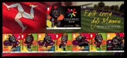 Isle Of Man 2011 Yvert 1742-1749, Sports. IV Commonwealth Youth Games 2011, Games Mascot. Triskelion Header - MNH - 1952-.... (Elizabeth II)
