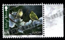 Isle Of Man 2011 Yvert 1756, Europa. Fauna. Birds, Serins Snowy Landscape - MNH - 1952-.... (Elizabeth II)
