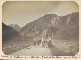 J36 - Photo Originale Début De Siècle - Col Du GALIBIER - Isère - Route De Valloire - Barricade Des Pestiférés - Luoghi
