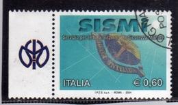 ITALIA REPUBBLICA ITALY REPUBLIC 2004 LE ISTITUZIONI SISMI SERVIZIO INFORMAZIONI SICUREZZA MILITARE USATO USED OBLITERE' - 2001-10: Usados