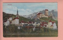 OLD POSTCARD - SWITZERLAND - SCHWEIZ -  SARGANS  1918 - SG St-Gall