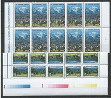 RM107 2002 ROMANIA LANDSCAPES ECOTOURISM MOUNTAIN TOP #5664-65 MICHEL MNH - Sonstige