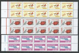 RM112 2002 ROMANIA POST POSTAL HISTORY LETTERS MICHEL 40 EURO #5688-90 10SET MNH - Post