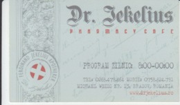 Romania - Brasov - Dr. Jekelius Pharmacy - Ferdinand Jekelius Apotheker , Festival Cafe Carte De Visite Visiting Card - Company Logo Napkins