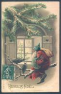 Père Noel Carte Gaufrée Santa Claus - Santa Claus