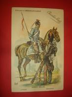 N°0927. WWI. CARTE BELGE ILLUSTRANT DES MILITAIRES BELGES PAR HARLET. LANCIER ET GRENADIER. EDITION DU CHOCOLAT LOUIT. - Guerre 1914-18