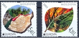 MOLDAVIA 2011 - MOLDAVIE - MOLDOVA - MOLDAWIEN  - EUROPA CEPT - BOSQUES - FORESTS - 2 STAMPS - 2011