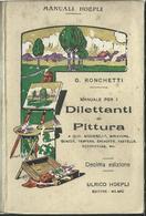 Libro/book/livre Manuale Hoepli - Manuale Per I Dilettanti Di Pittura Di G. Ronchetti - Arte, Architettura