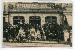 71 AUTUN Le Restaurant MULLER Clients Terrasse  Place Du Champ De Mars  Photo G Le Visage  -écrite Voir Dos    D02 2020 - Autun