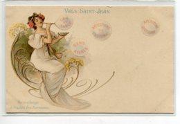 ILLUSTRATEUR  PUBLICITE  'Eau VALS SAINT JEAN Jeune Femme Faisant Bulles   ART NOUVEAU 1900   D02 2020 - Illustrateurs & Photographes