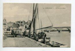 24 BERGERAC Charette Chargement Bateau U Coin Des Quais  - Coll Astruc 21- écrite 1916    D02 2020 - Bergerac