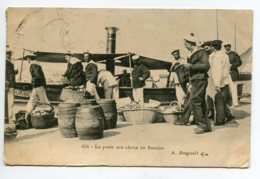 MARINE  La Poste Aux Choux En Escadre Marins Quai Port Edit A Bougault 654- écrite De Cherbourrg En 1906D02  2020 - Non Classés