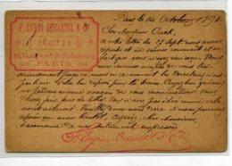 75 PARIS Xem écrite 1891  Timbrée ETS EYBINDUCASTEL 16 Boulev De Strasbourg Commande De Litographies  Artiste  D02 2020 - Arrondissement: 10