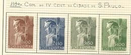Portugal Complete Serie 1954 4º Centenário Da Fundação Da Cidade De S. Paulo New With Hinge - 1910-... Republic