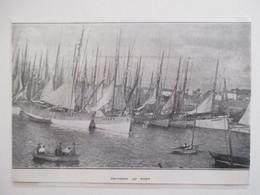 Année(1929) CONCARNEAU  - Thonniers Au Port   - Ancienne Coupure De Presse - Historische Dokumente