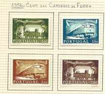 Portugal Complete Serie 1956 1º Centenário Dos Caminhos De Ferro Em Portugal New With Hinge - 1910-... Republic