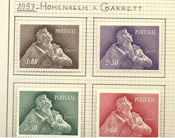 Portugal Complete Serie 1957 Almeida Garrett New With Hinge - 1910-... Republic