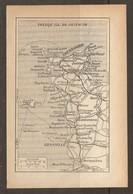 CARTE PLAN 1931 NORMANDIE - PRESQU'ILE Du COTENTIN CHERBOURG BARFLEUR St LO GRANVILLE COUTANCES PORTBAIL - Topographical Maps