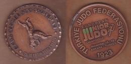 AC - EUROPEAN JUNIOR JUDOCHAMPIONSHIPS 15 - 18 NOVEMBER 1990 ANKARA BRONZE MEDAL - MEDALLION - Martial Arts