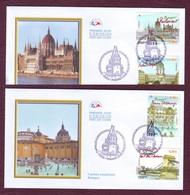FRANCE 2011- Série Yvert 4538/4541 Capitales Européennes BUDAPEST, Sur EnveloppeS 1er Jour 25/03/20011 - FDC