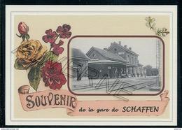 SCHAFFEN ...  2 Cartes Souvenirs Gare ... Train  Creations Modernes Série Limitée - Diest