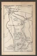 CARTE PLAN 1931 - BRÉLÉVENEZ LANNION BUHULIEN PLOUBEZRE KERGRIST TONQUÉDEC RUNFAU - Cartes Topographiques