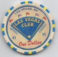 Jeton Chip De Casino : Las Vegas Club NV $1 - Casino