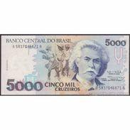 TWN - BRAZIL 232c - 5000 5.000 Cruzeiros 1991 Various Series - Signatures: Haddad & Loyola UNC - Brasile