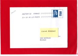 F 2018 / YT 5257 / Marianne L'engagée, Datamatrix Europe Sur Lettre Voyagée Obl 31.12.18 Dernier Jour Du Tarif - 2018-... Marianne L'Engagée