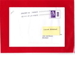 F 2018 / YT  5291 / L'engagée, Datamatrix International Sur Lettre  Voyagée Obl 02.01.19 Premier Jour Du Tarif - 2018-... Marianne L'Engagée