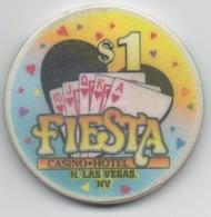 Jeton Chip De Casino : Fiesta North Las Vegas NV $1 : Royal Flush Capital Of The World (Coeur) - Casino