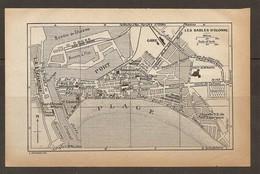 CARTE PLAN 1931 LES SABLES D'OLONNE - DOCKS BASSIN De CHASSE CASINO LA CHAUME HALLES - Topographische Kaarten