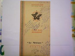 """GP 2020 - 2327  MENU  Café-BAR BRASSERIE  """"LE METEORE""""   1934   XXX - Van Houten"""